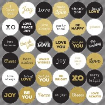 "Kaisercraft A Touch of Gold 12""x12"" Sticker Sheet SS290"