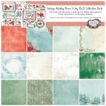 """49 and Market Vintage Artistry Peace & Joy Christmas 12""""x12"""" Collection Pack VPJ-34628"""