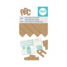 """We R Memory Keepers 3""""x5"""" ABC Paper Pad 50 Sheets - Kraft 660896"""