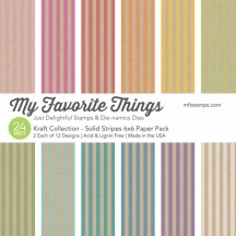 "My Favorite Things Kraft Collection - Solid Stripes 6""x6"" Paper Pack"