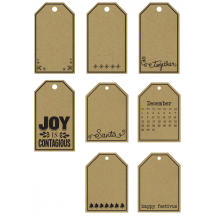 Studio Calico Magical Christmas Printed Kraft Tags 331553
