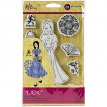 Prima Marketing Kyoko Julie Nutting Mixed Media Doll Rubber Cling Stamp 912925
