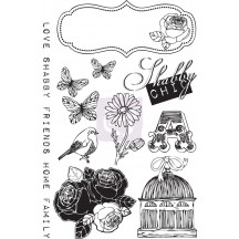 Prima Marketing Lady Bird Rubber Cling Stamps 563011