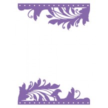 Couture Creations Large Only One Premium Universal Embossing Folder - Marriot Collection