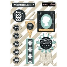 Teresa Collins Memorabilia Layered Stickers MB1028