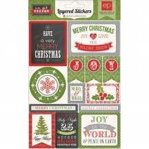 Echo Park Tis the Season Christmas Self Adhesive Layered Stickers TIS56024