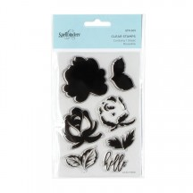 Spellbinders Layered Rose Clear Stamp Set - STP-001