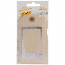 American Crafts Amy Tangerine Stitched Layered & Stitched Tags 368976