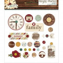 Simple Stories Legacy Glazed Decorative Brads 5727