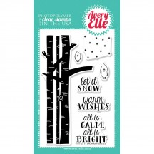 """Avery Elle Let It Snow 4""""x6"""" Clear Christmas Stamp Set"""