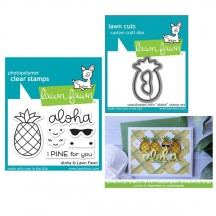 Lawn Fawn Aloha Clear Stamps & Die Set LF1417 LF1418