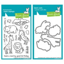Lawn Fawn Critters on the Savanna Clear Stamp & Die Set LF448 LF487