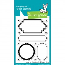 Lawn Fawn Just For You Labels Clear Stamps LF1132