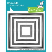Lawn Fawn Cuts Large Cross-Stitched Square Universal Custom Craft Cutting Dies LF1182