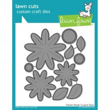 Lawn Fawn Cuts Flower Power Universal Custom Craft Cutting Dies LF1205
