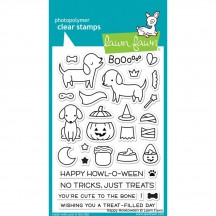 """Lawn Fawn Happy Howloween 4""""x6"""" Clear Halloween Stamps LF1206"""