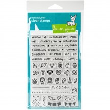 """Lawn Fawn Plan On It: Holidays 4""""x6"""" Clear Stamps LF1231"""