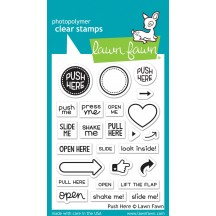 """Lawn Fawn Push Here 3""""x4"""" Clear Stamps LF1415"""