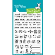"""Lawn Fawn Plan On It: Vacation 4""""x6"""" Clear Stamps LF1422"""