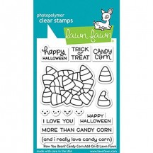 "Lawn Fawn How You Bean? Candy Corn Add-on Halloween 3""x4"" Clear Stamps LF1460"