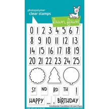 "Lawn Fawn Celebration Countdown 4""x6"" Clear Stamps LF1476"