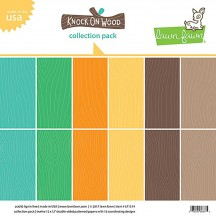 "Lawn Fawn Knock on Wood 12""x12"" Collection Pack LF1514"
