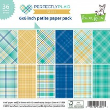 """Lawn Fawn Perfectly Plaid Chill 6""""x6"""" Petite Paper Pack 36 Sheets LF1521"""