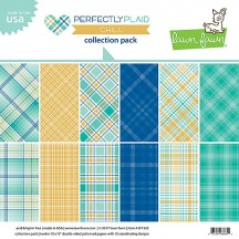 "Lawn Fawn Perfectly Plaid Chill 12""x12"" Collection Pack LF1522"