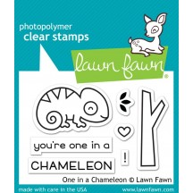 "Lawn Fawn One in a Chameleon 2""x3"" Clear Stamps LF1549"
