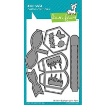 Lawn Fawn Cuts Stitched Basket Universal Custom Craft Cutting Dies LF1621