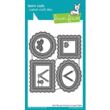 Lawn Fawn Cuts Mini Pictures Frames Universal Custom Craft Cutting Dies LF1623