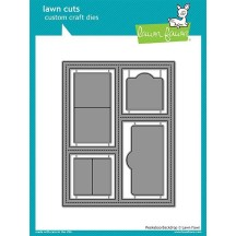 Lawn Fawn Cuts Peekaboo Backdrop Universal Custom Craft Cutting Dies LF1626