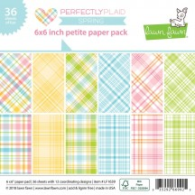 "Lawn Fawn Perfectly Plaid Spring 6""x6"" Petite Paper Pack 36 Sheets LF1639"
