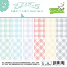 "Lawn Fawn Gotta Have Gingham 6""x6"" Petite Paper Pack 36 Sheets LF1647"