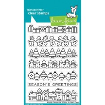 "Lawn Fawn Simply Celebrate Winter 4""x6"" Clear Christmas Stamps LF1769"