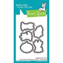 Lawn Fawn Cuts Say What? Christmas Critters Universal Craft Cutting Dies LF1779