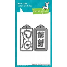 Lawn Fawn Cuts Say What? Gift Tags Universal Craft Cutting Dies LF1780