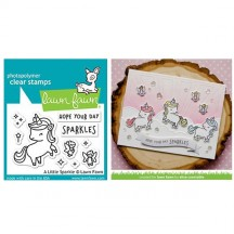 Lawn Fawn A Little Sparkle Unicorn Clear Stamp Set LF1818