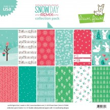 "Lawn Fawn Snow Day Remix 12""x12"" Collection Pack LF2084"