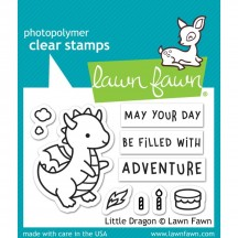 "Lawn Fawn Little Dragon 2""x3"" Clear Stamp & Die Set LF2323 & LF2324"