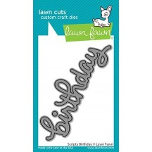 Lawn Fawn Cuts Scripty Birthday Universal Custom Craft Cutting Dies LF2354