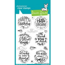 Lawn Fawn Magic Messages Sentiments Clear Stamp Set LF2508