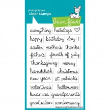 """Lawn Fawn Happy Everything 4""""x6"""" Clear Stamps LF430"""