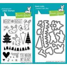 "Lawn Fawn Snow Day Christmas 4""x6"" Clear Stamps & Dies Set"