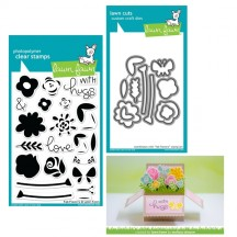 Lawn Fawn Fab Flowers Clear Stamps & Die Set LF1332 LF1333