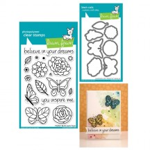 Lawn Fawn Flutter By Clear Stamps & Cutting Die Set LF383 LF797