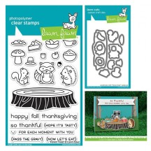 Lawn Fawn Forest Feast Clear Stamps & Cutting Die Set LF1464 LF1465