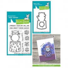 Lawn Fawn Fortune Telling Tabby Clear Stamp & Cutting Die Set LF2016 LF2017