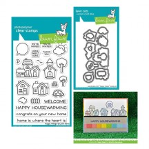 Lawn Fawn Happy Village Clear Stamps & Die Set LF1591 LF1592