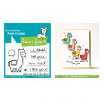 Lawn Fawn Llama Tell You Clear Stamp Set LF1678
